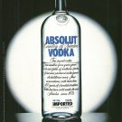 ABSOLUT OPTIMIST/PESSIMIST Vodka Magazine Ad HARD TO FIND!