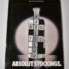 ABSOLUT STOCKINGS Spectacular Vodka Magazine Ad Insert SEALED! HARD TO FIND!