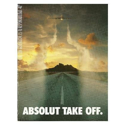 ABSOLUT TAKE OFF Vodka Magazine Ad from Spain HARD TO FIND!