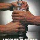 ABSOLUT PLAY BALL Vodka Magazine Ad NOT COMMON!