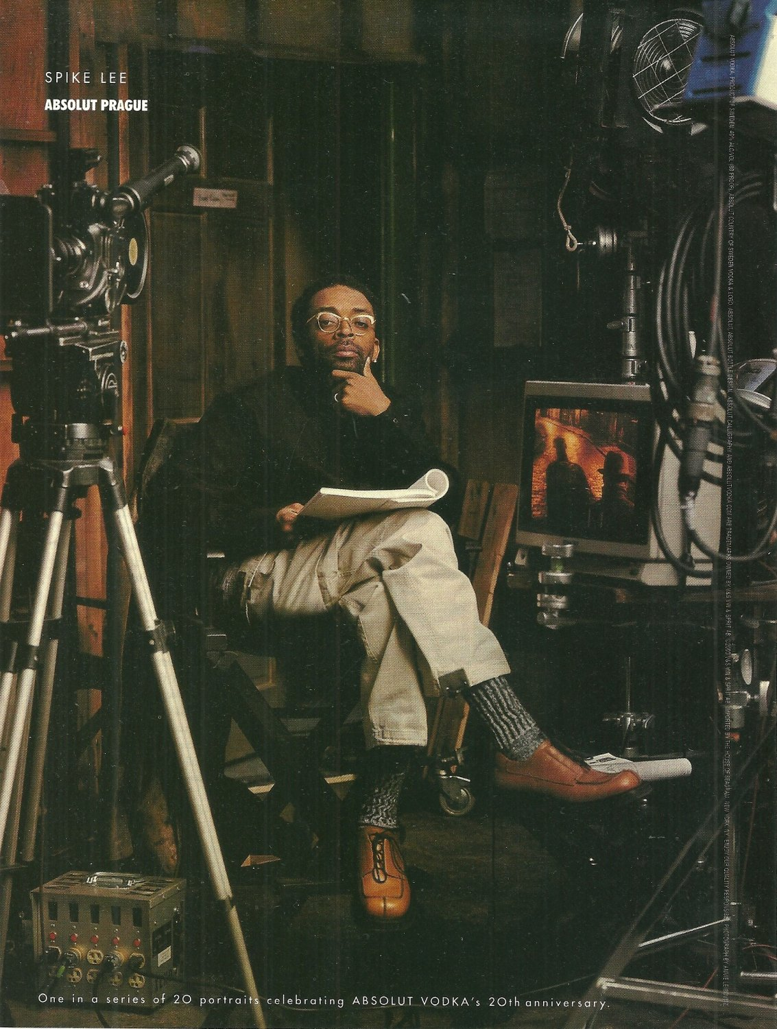 ABSOLUT PRAGUE Vodka Magazine Ad Featuring Spike Lee NOT COMMON!
