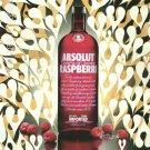 ABSOLUT RASPBERRI Vodka Magazine Ad PHIL FROST Spanish Text