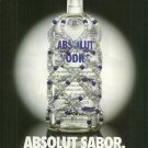 ABSOLUT SABOR Latino American Vodka Ad HARD TO FIND!