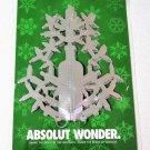 ABSOLUT WONDER Spectacular Vodka Magazine Ad 3D CHRISTMAS DECORATION Sealed!