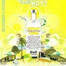 ¿A QUÉ SABES HOY? Absolut Citron Vodka Magazine Ad SPANISH TEXT