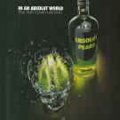 IN AN ABSOLUT WORLD Vodka Magazine Ad TRUE TASTE COMES NATURALLY – PEARS (Explod