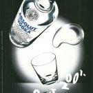 ABSOLUT 2001 British Vodka Magazine Ad NOT EASY TO FIND!