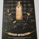 ABSOLUT ATTRACTION Bling Bling Vodka Magazine Ad DOBERMAN PINSCHER GUARD DOGS