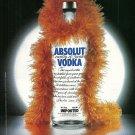 ABSOLUT BIRTHDAY Italian Vodka Magazine Ad HARD TO FIND!