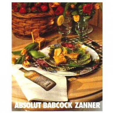 ABSOLUT BABCOCK ZANNER Canadian Vodka Magazine Ad RARE!
