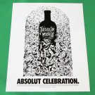 ABSOLUT CELEBRATION Vodka Magazine Ad w/ Artwork by Evan Polenghi RARE!