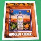 ABSOLUT CHOICE Vodka Magazine Ad RARE!