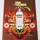 FIND YOUR FLAVOR Vodka Magazine Ad from Trinidad RARE ABSOLUT PEPPAR VERSION