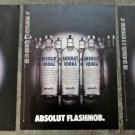 ABSOLUT FLASHMOB Spectacular 3-Page Vodka Magazine Ad From Spain VERY RARE!