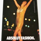 ABSOLUT FASHION Vodka Magazine Ad - 10 PAGES - 10 RARE ADS - 1990