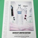 ABSOLUT LIMITED EDITION Russian Vodka Magazine Ad w/ Cyrillic & English Text