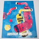 ABSOLUT MCGLYNN Vodka Magazine Ad w/ Artwork by David McGlynn