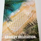 ABSOLUT RELAXATION Greek Vodka Magazine Ad RARE!