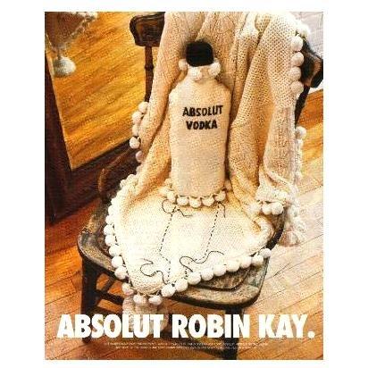 ABSOLUT ROBIN KAY Vodka Magazine Ad by Canadian Interior Designer RARE!