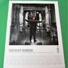 ABSOLUT RUMOR Russian Vodka Ad w/ Cyrillic Text (Version 1) RARE!