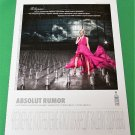ABSOLUT RUMOR Russian Vodka Ad w/ Cyrillic Text (Version 2) RARE!