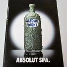 ABSOLUT SPA Spanish Vodka Magazine Ad HARD TO FIND!