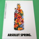 ABSOLUT SPRING Spanish Vodka Magazine Ad NOT VERY COMMON!