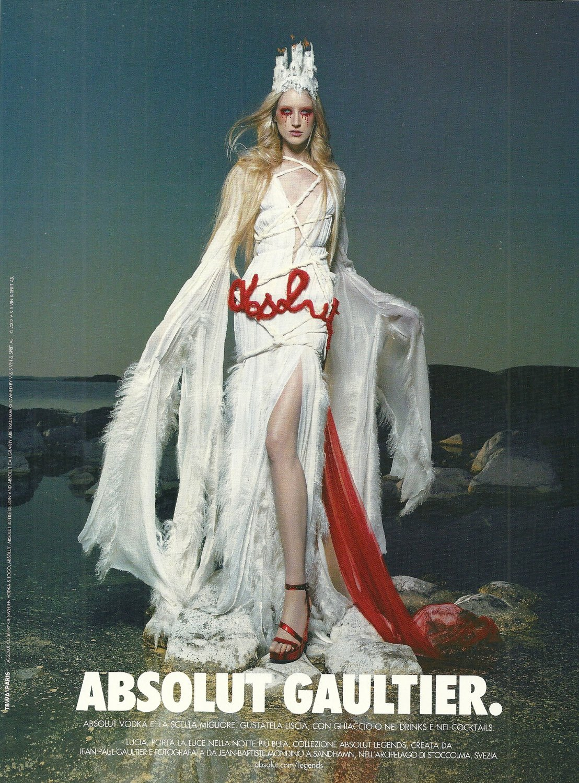 ABSOLUT GAULTIER (Lucia Version) Vodka Magazine Ad by Jean-Paul Gaultier