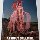 ABSOLUT GAULTIER (Midsommar Version) Vodka Magazine Ad by Jean-Paul Gaultier