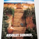 ABSOLUT SUMMER (Boardwalk Version) Australian Vodka Magazine Ad NOT COMMON!