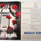 ABSOLUT BRAVO and ABSOLUT SCREENPLAY Vodka Magazine Ads