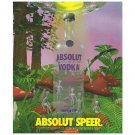 ABSOLUT SPEER Vodka Magazine Ad w/ Artwork by Steve Speer NOT COMMON!