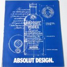 ABSOLUT DESIGN Vodka Magazine Ad - 12 PAGES
