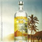 ABSOLUT RIO British Vodka Magazine Ad OSKAR METSAVAHT Collaboration