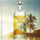 ABSOLUT RIO British Vodka Magazine Ad OSKAR METSAVAHT Collaboration