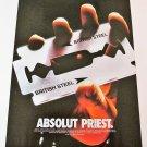ABSOLUT PRIEST Vodka Magazine Ad JUDAS PRIEST BRITISH STEEL