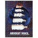 ABSOLUT VOICE Vodka Magazine Ad