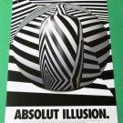 ABSOLUT ILLUSION Vodka Magazine Ad - BLACK FONT ON WHITE BACKGROUND