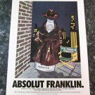 ABSOLUT FRANKLIN and ABSOLUT HOLLYWOOD Double-Sided Vodka Magazine Ads