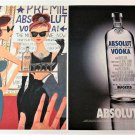 ABSOLUT L.A. Vodka Magazine Ad + Artwork Page by Ruben Toledo 2003