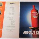ABSOLUT REVEALED + REVELATIONS Canadian Vodka Magazine Ads OCTOBER 2000