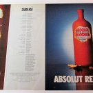 ABSOLUT REVEALED + REVELATIONS Canadian Vodka Magazine Ads NOV/DEC/JAN 2000