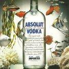 ABSOLUT DISCOVERY British Vodka Magazine Ad VERY HARD TO FIND!