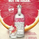 ABSOLUT GRAPEFRUIT Vodka Magazine Ad NEW FOR 2018!