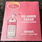 ABSOLUT GRAPEFRUIT - NO SUGAR ADDED. ALL NATURAL FLAVOUR- 2019 Vodka Magazine Ad