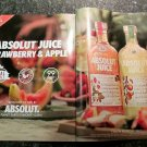 ABSOLUT JUICE - STRAWBERRY & APPLE - 2019 Vodka Magazine Ad - 2 Pages