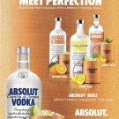 ABSOLUT MULE MEET PERFECTION Vodka Magazine Ad