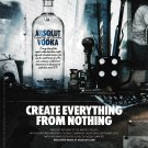 CREATE EVERYTHING FROM NOTHING Absolut Vodka Magazine Ad