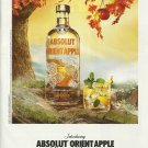 ABSOLUT ORIENT APPLE Vodka Magazine Ad BOTTLE & COCKTAIL