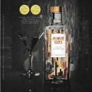 HANDCRAFTED LUXURY ABSOLUT ELYX Canadian Vodka Magazine Ad MARTINI GLASS